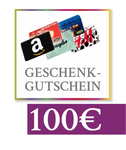 "100 € Geschenkgutschein ""Amazon, Media Markt, Douglas & Co"""